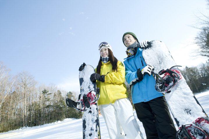 スキー場カップル