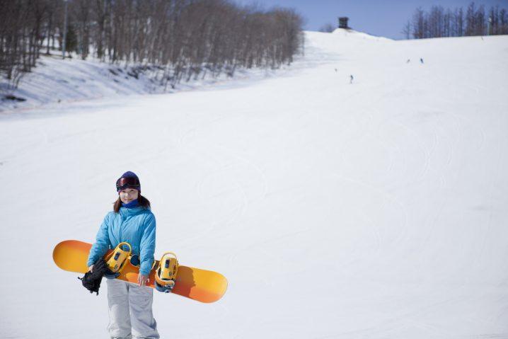 女性有名人スキー場バイト