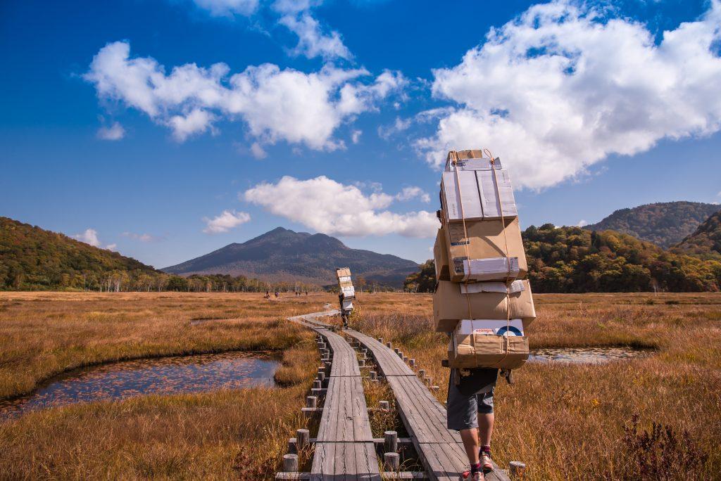 山小屋荷物運びバイト