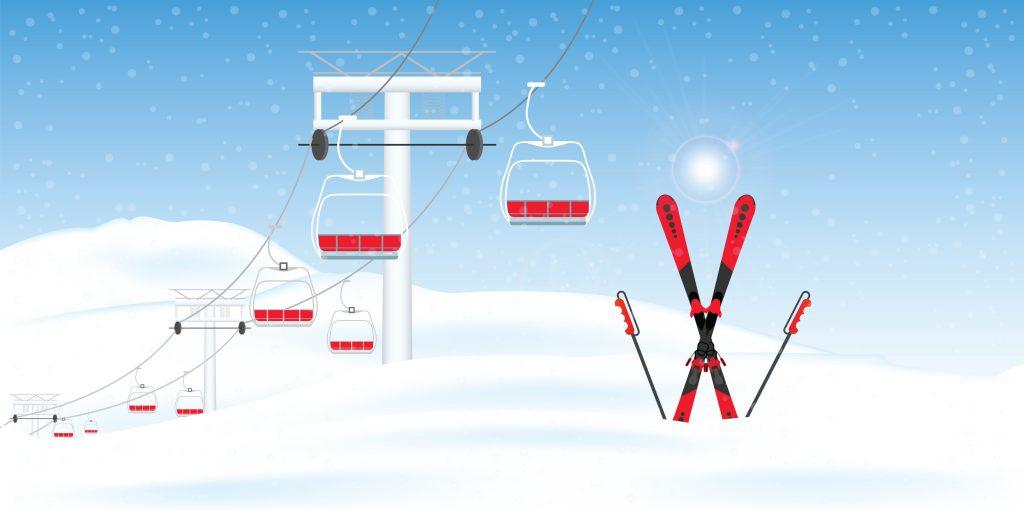 仕事スキー場の