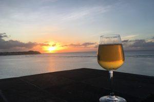 熱海夕方ビール