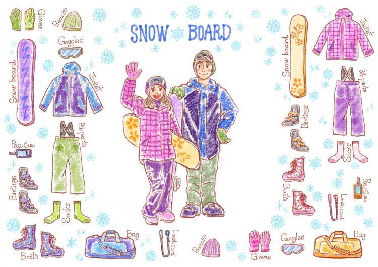 スキー場持ち物